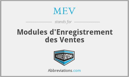 MEV - Modules d'Enregistrement des Ventes