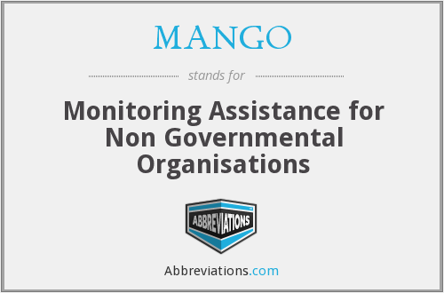 MANGO - Monitoring Assistance for Non Governmental Organisations