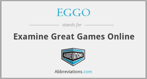 EGGO - Examine Great Games Online