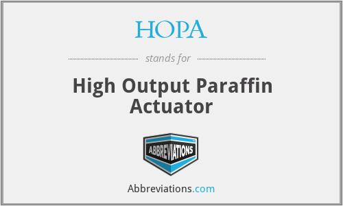 HOPA - High Output Paraffin Actuator