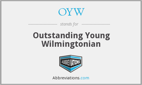 OYW - Outstanding Young Wilmingtonian
