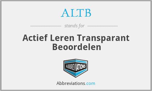 ALTB - Actief Leren Transparant Beoordelen