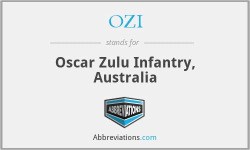 OZI - Oscar Zulu Infantry, Australia