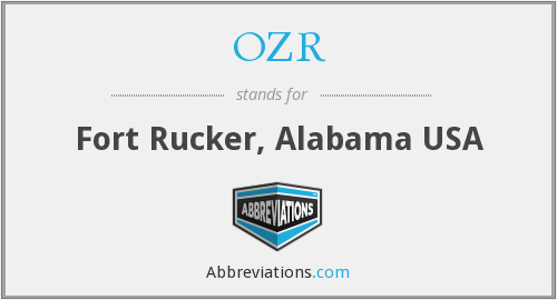 OZR - Fort Rucker, Alabama USA