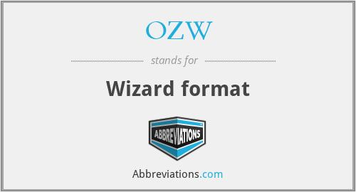 OZW - Wizard format