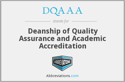 What does DQAAA stand for?