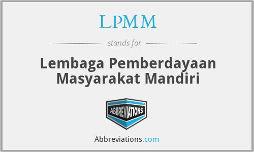 LPMM - Lembaga Pemberdayaan Masyarakat Mandiri