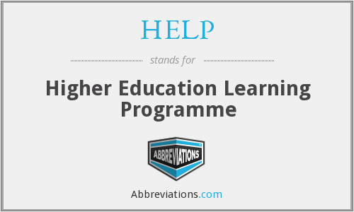 HELP - Higher Education Learning Programme