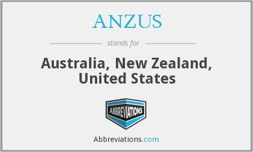 ANZUS - Australia, New Zealand, United States