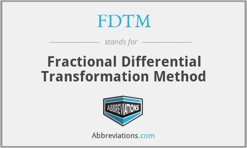FDTM - Fractional Differential Transformation Method