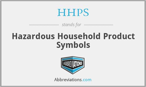 HHPS - Hazardous Household Product Symbols