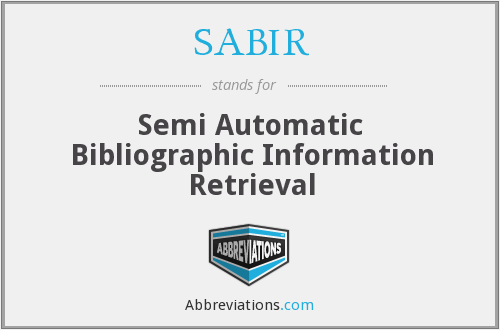 What does SABIR stand for?