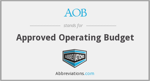 AOB - Approved Operating Budget