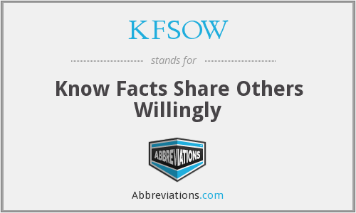 What does KFSOW stand for?