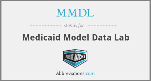 MMDL - Medicaid Model Data Lab
