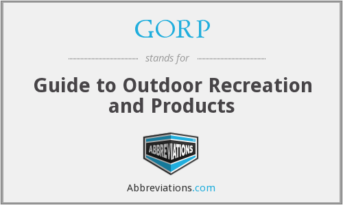 GORP - Guide to Outdoor Recreation and Products