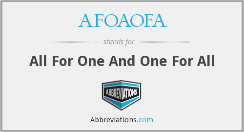 What does AFOAOFA stand for?