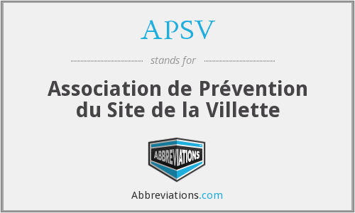 APSV - Association de Prévention du Site de la Villette