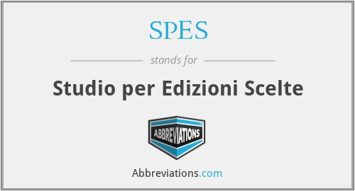SPES - Studio per Edizioni Scelte