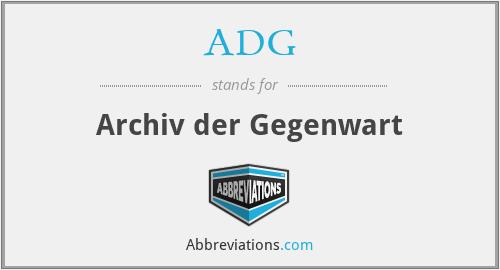 ADG - Archiv der Gegenwart