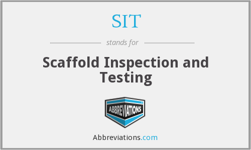 SIT - Scaffold Inspection and Testing