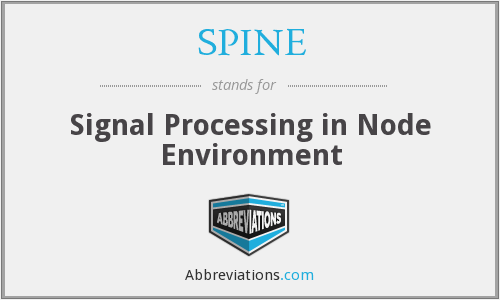 SPINE - Signal Processing in Node Environment