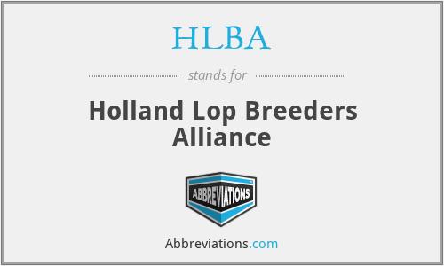 HLBA - Holland Lop Breeders Alliance