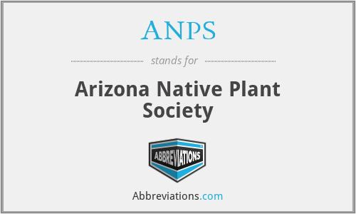 ANPS - Arizona Native Plant Society