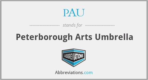 PAU - Peterborough Arts Umbrella