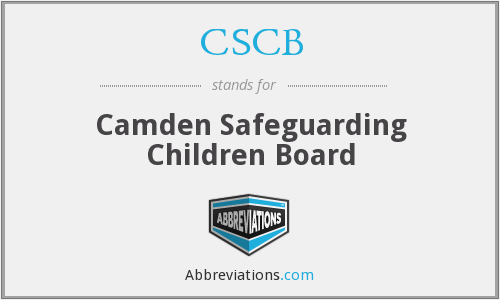 CSCB - Camden Safeguarding Children Board