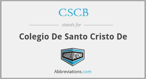 CSCB - Colegio De Santo Cristo De