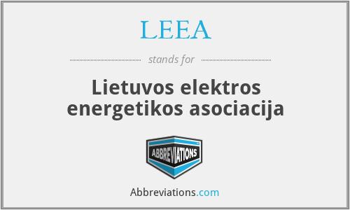 LEEA - Lietuvos elektros energetikos asociacija