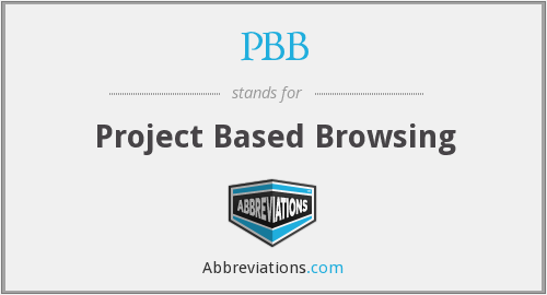 PBB - Project Based Browsing