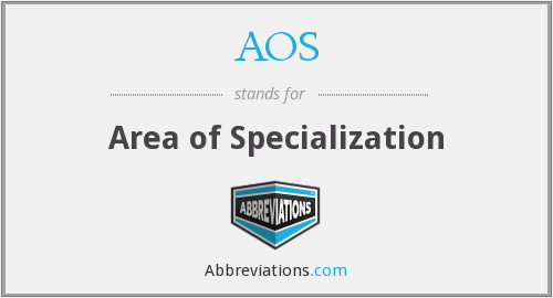 What does specialization stand for?