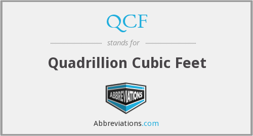 What does QCF stand for?