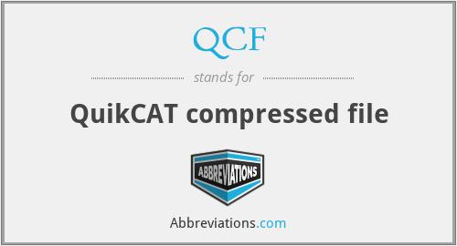 QCF - QuikCAT compressed file