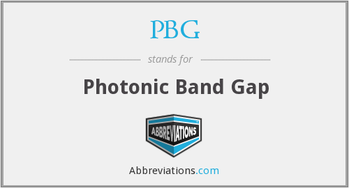 PBG - Photonic Band Gap