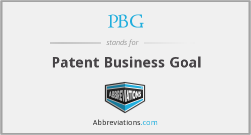 PBG - Patent Business Goal