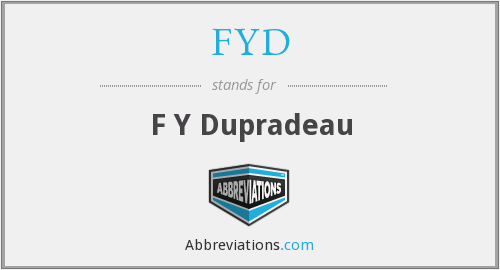 What does FYD stand for?