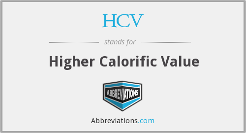 HCV - Higher Calorific Value