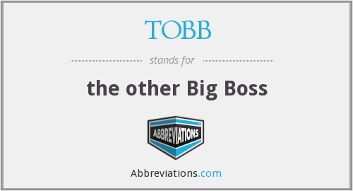 What does TOBB stand for?