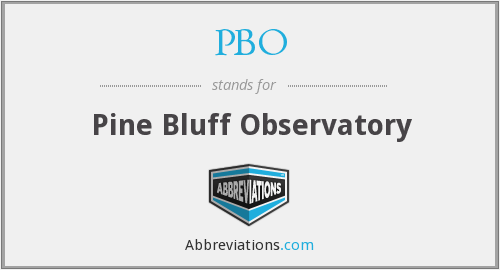 PBO - Pine Bluff Observatory