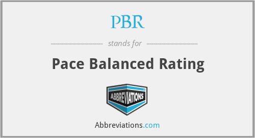 PBR - Pace Balanced Rating