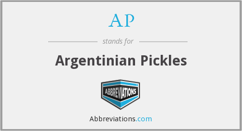 AP - Argentinian Pickles