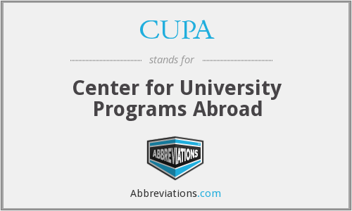 CUPA - Center for University Programs Abroad