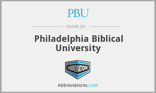 PBU - Philadelphia Biblical University