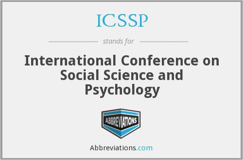 ICSSP - International Conference on Social Science and Psychology