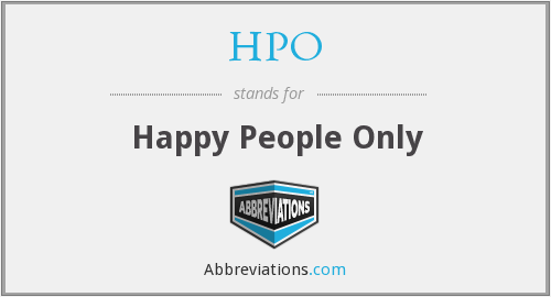 What does HPO stand for?