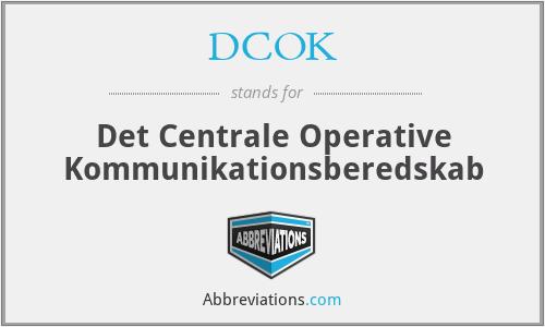 DCOK - Det Centrale Operative Kommunikationsberedskab