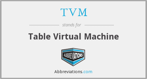TVM - Table Virtual Machine